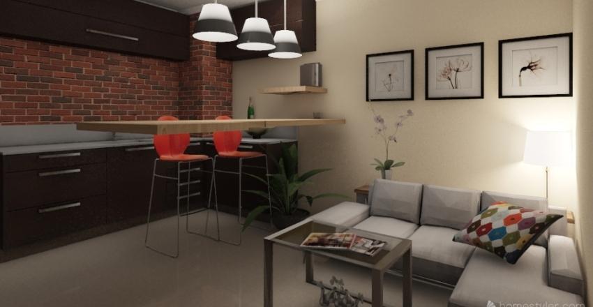 Blues Interior Design Render