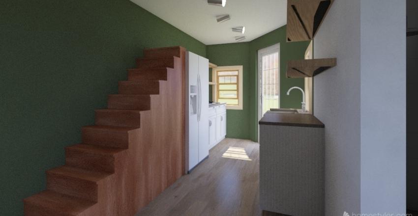 tiny house with bathroom under Interior Design Render
