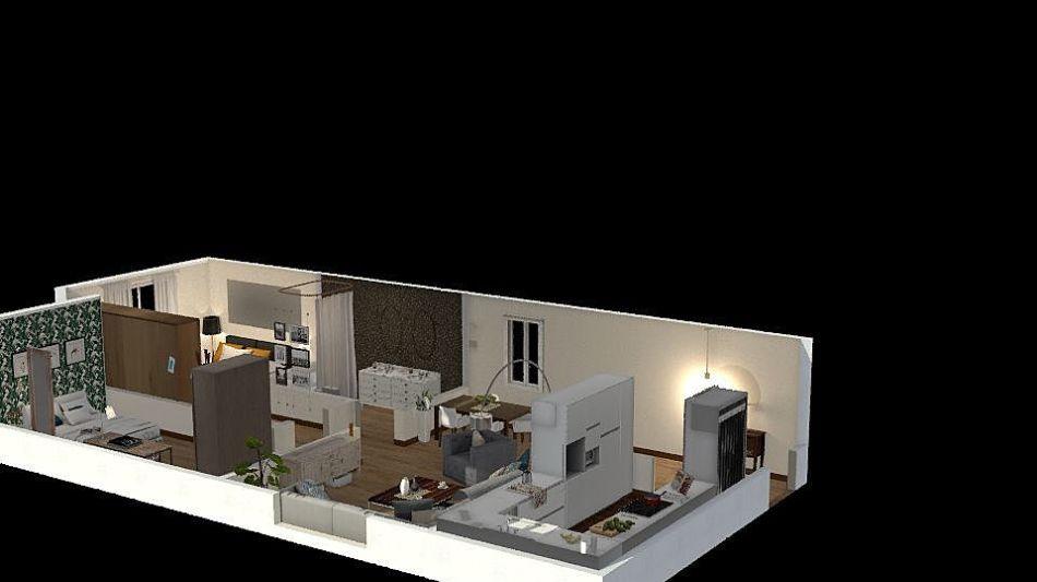 Apartment 2 interior decoration rendering paula odero for Homestyler italiano