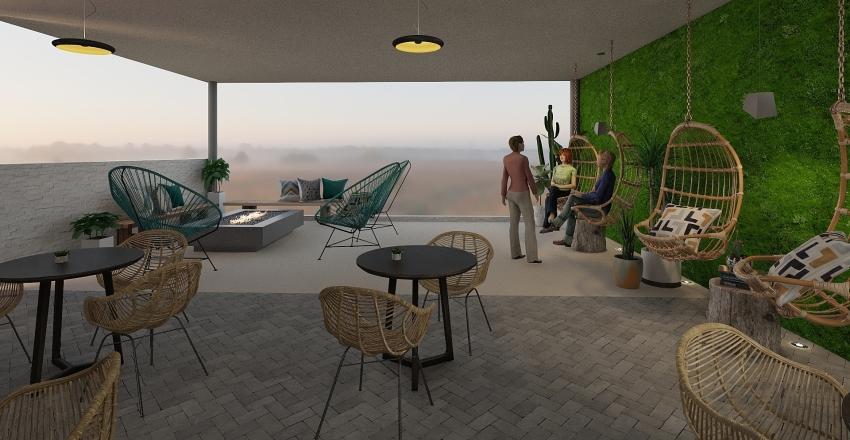 Cafe Tropico Interior Design Render