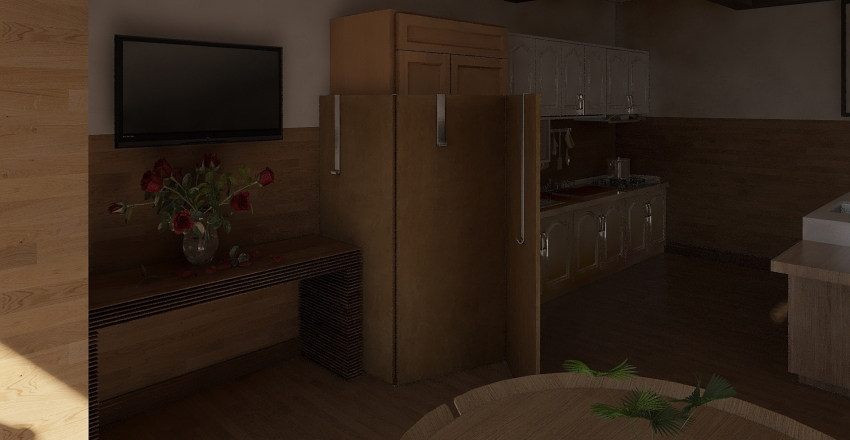 Wooden Dream Interior Design Render