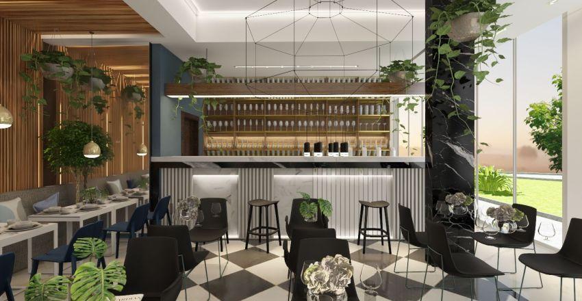 MEDITERRANEAN + LIBRARY LOUNGE  Interior Design Render