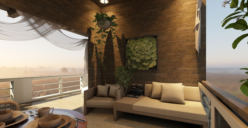Sunset Tree House Interior Design Render