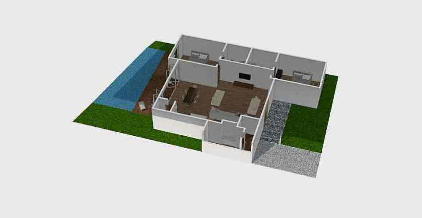 Indo house Interior Design Render