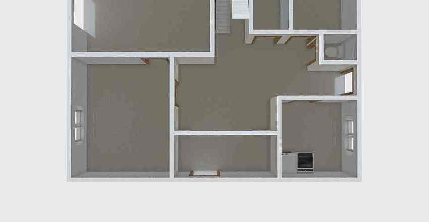 Smržice přízemí Interior Design Render