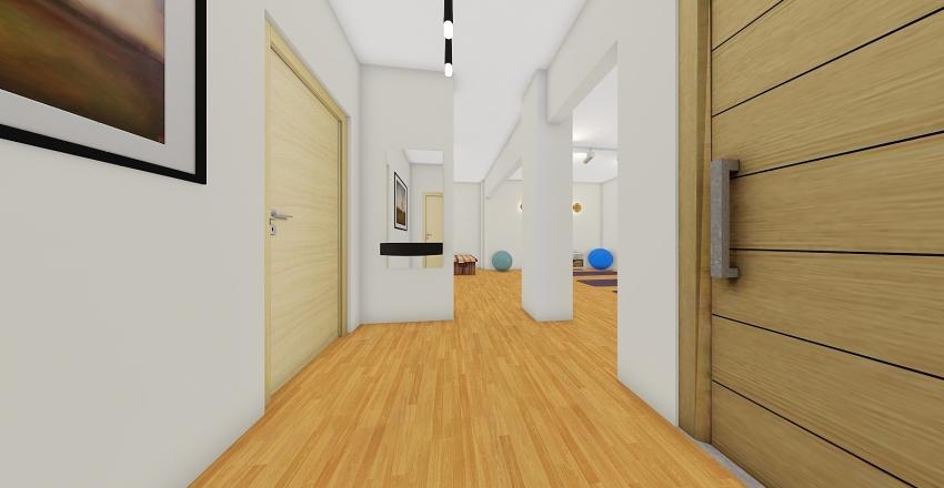pilates room & ground floor apartment Interior Design Render