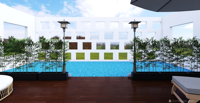 Dream Oasis Pool Interior Design Render