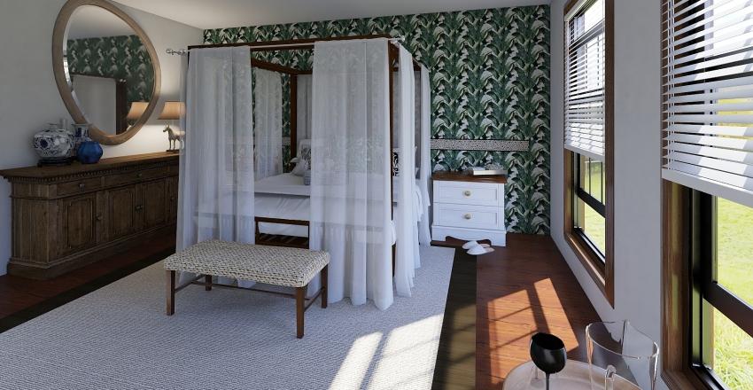 Tek odalar Interior Design Render