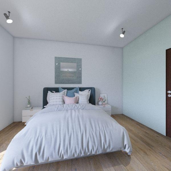 Classy Cool Tones Room Interior Design Render