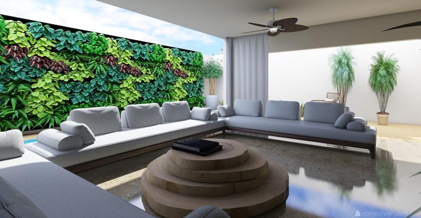 Tropical Pool Interior Design Render