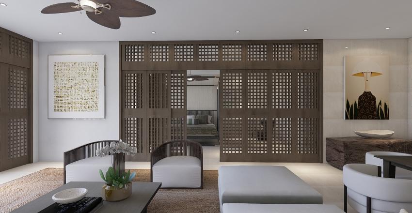 Filipino inspired condo Interior Design Render