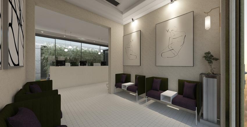 sala de espera clini Interior Design Render
