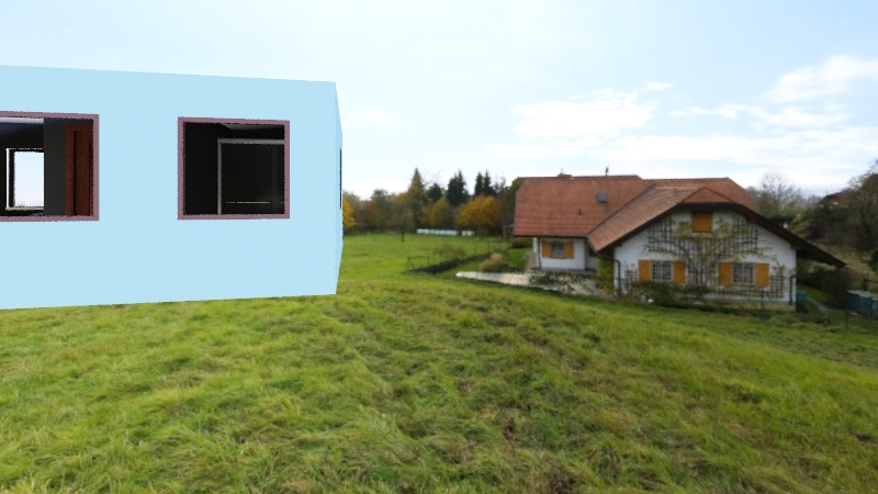 Barn home Interior Design Render