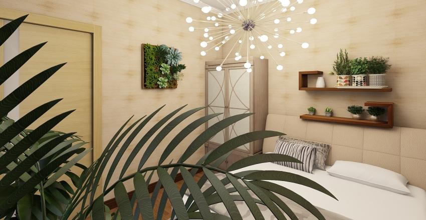 Minimal Bedroom Interior Design Render