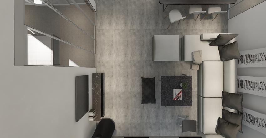 Country Loft  Interior Design Render