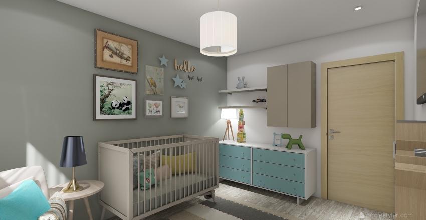 Habitación de bebe - Baby room  Interior Design Render