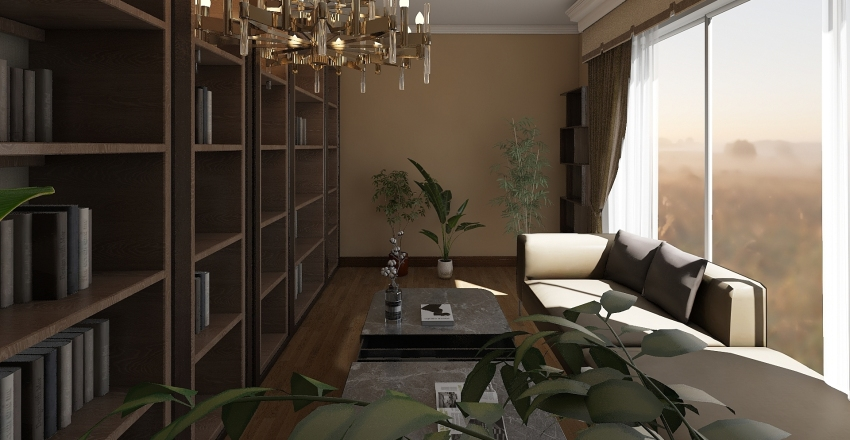 My Little Library Interior Design Render