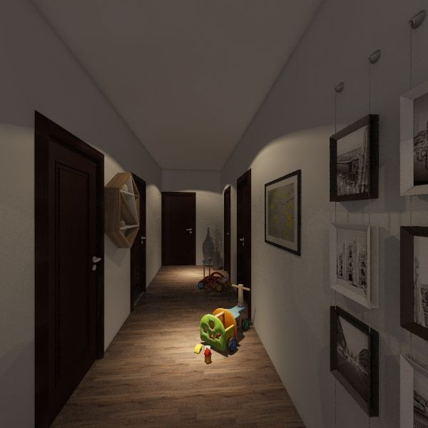 Large Family; Small Home Interior Design Render