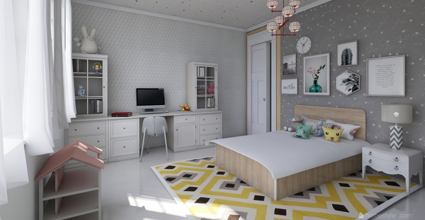 conept hub Interior Design Render