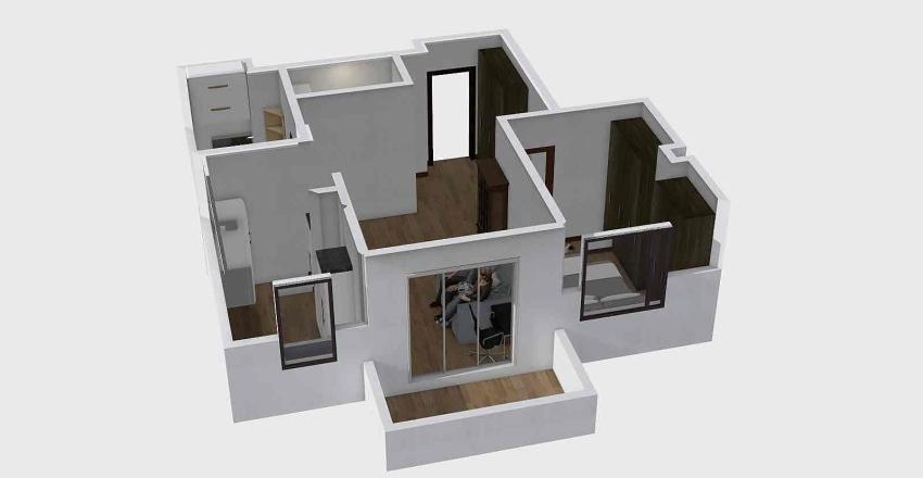 Nasz Mały Grochów z Garderobą 2 Interior Design Render