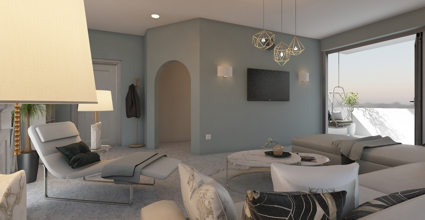 Speckled Earth Interior Design Render