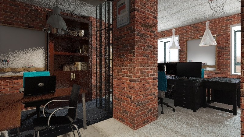 back office Interior Design Render