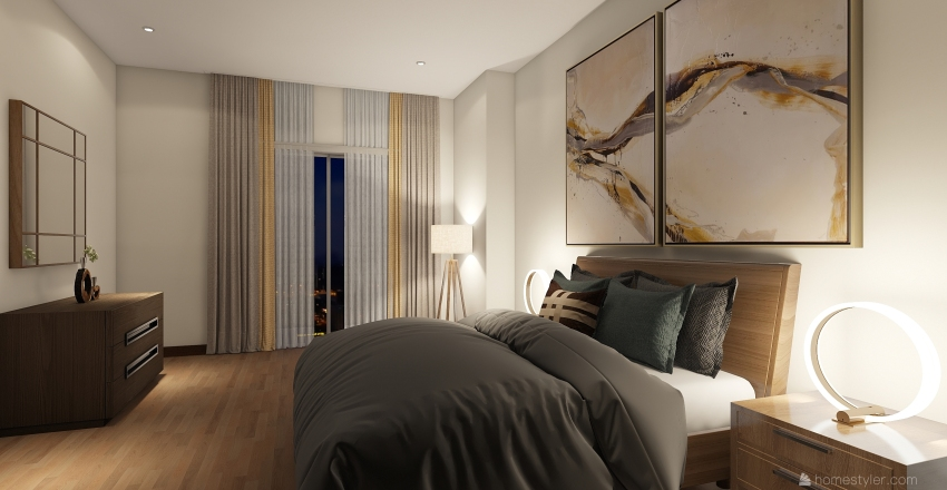 Suite Interior Design Render