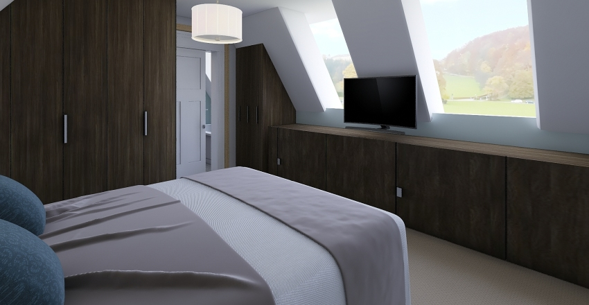 Loft Conversion Interior Design Render