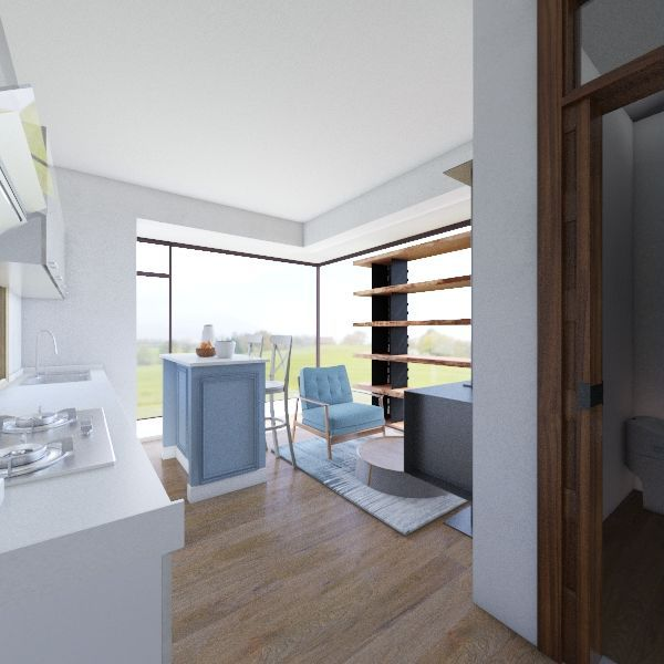 Cabin Tiny House  Interior Design Render