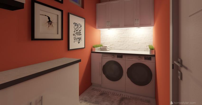 Loundry room Interior Design Render