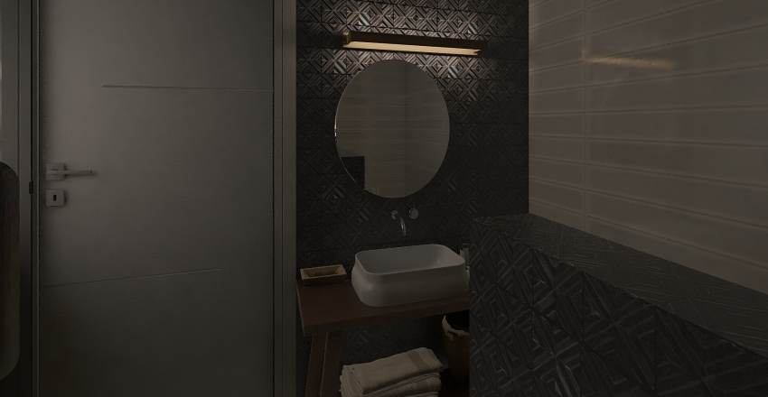 2 rooms flat Interior Design Render