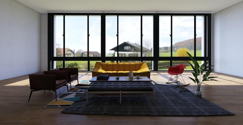 Living Room in Progress Interior Design Render