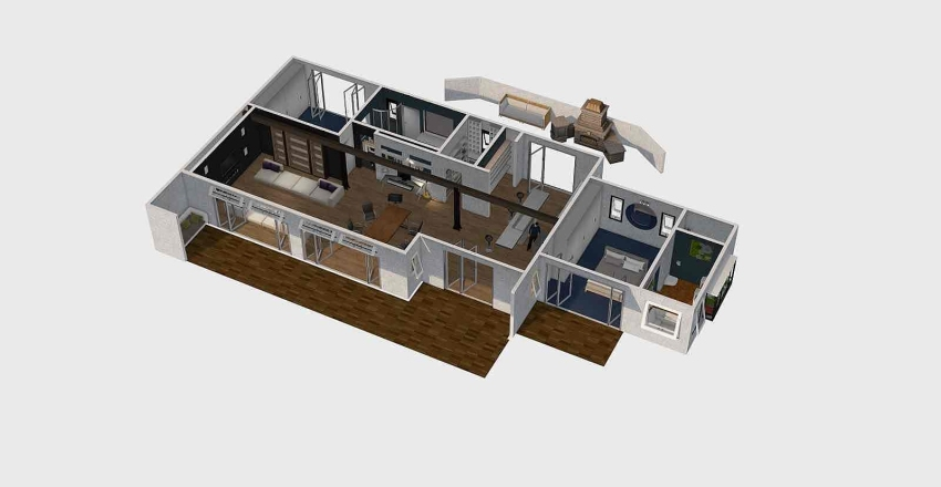 Korora House Interior Design Render