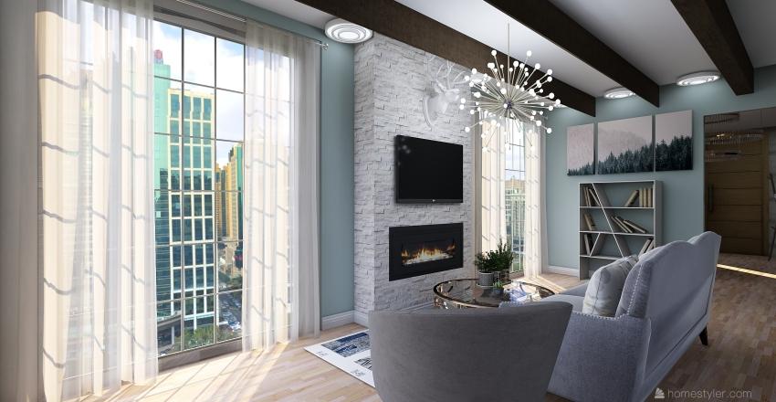 A basic apartment Interior Design Render