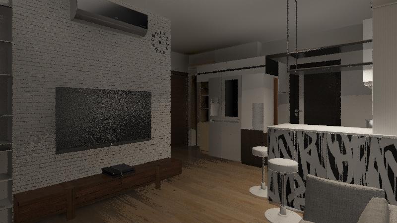 親愛的house Interior Design Render