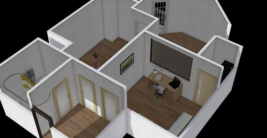 Flat2 47 sqm Interior Design Render