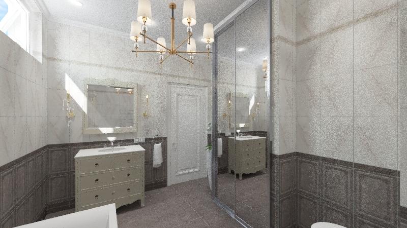 вероника ванная  в классике Interior Design Render
