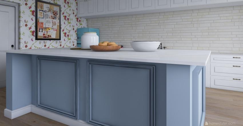 country kitchen Interior Design Render