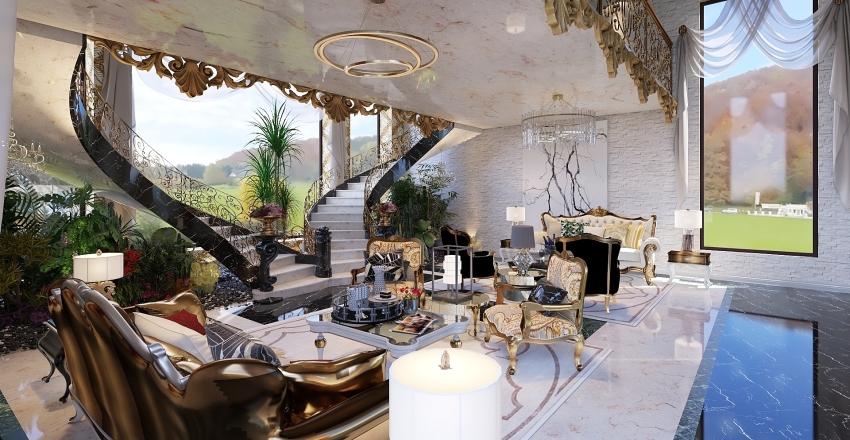 colonial Interior Design Render