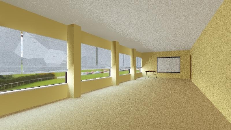 Classroom Interior Design Render