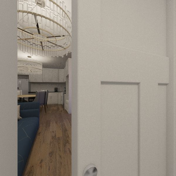 two bedroom  apartment Interior Design Render
