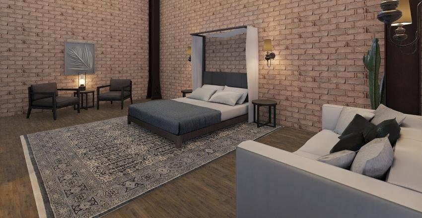 Warehouse Loft Interior Design Render