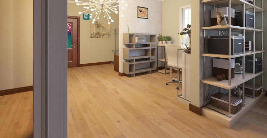 Office floor Interior Design Render