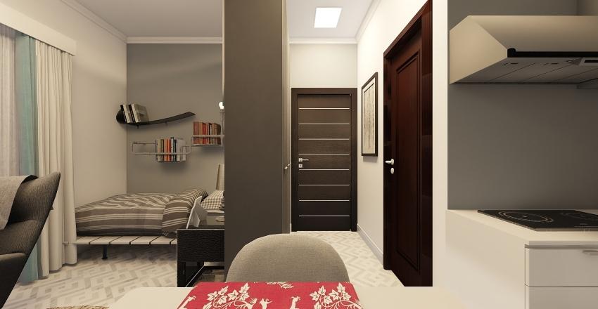 Bachelors Studio Apartment Design Interior Design Render