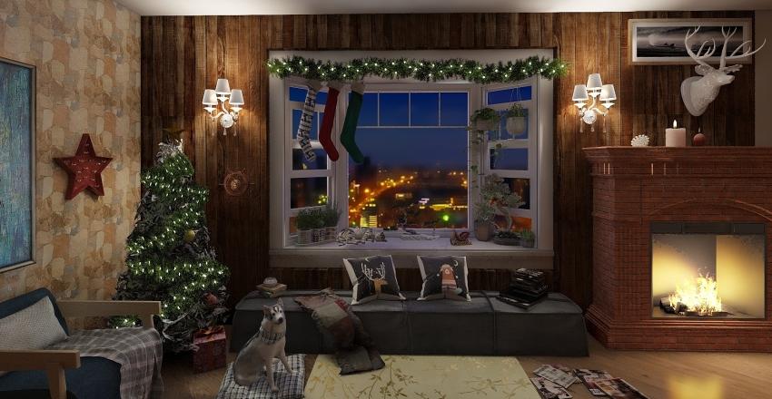 Chalet Noel Interior Design Render