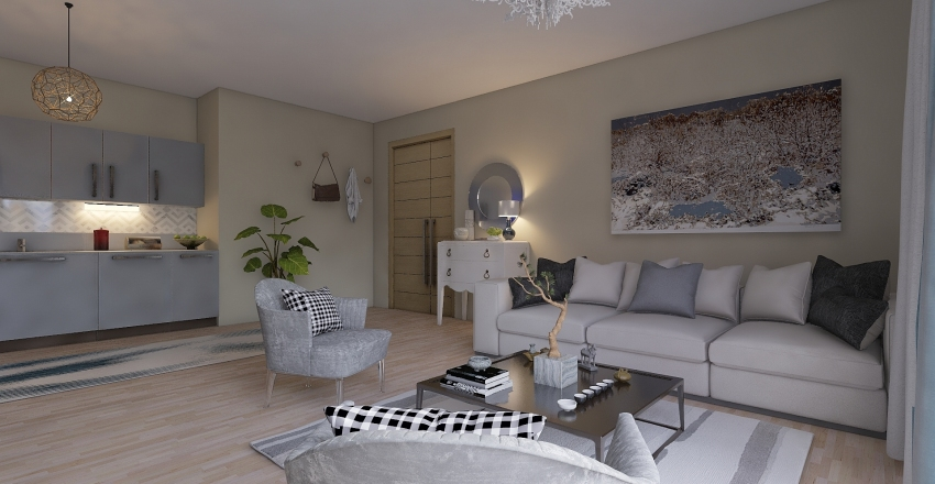 small house 3 Interior Design Render