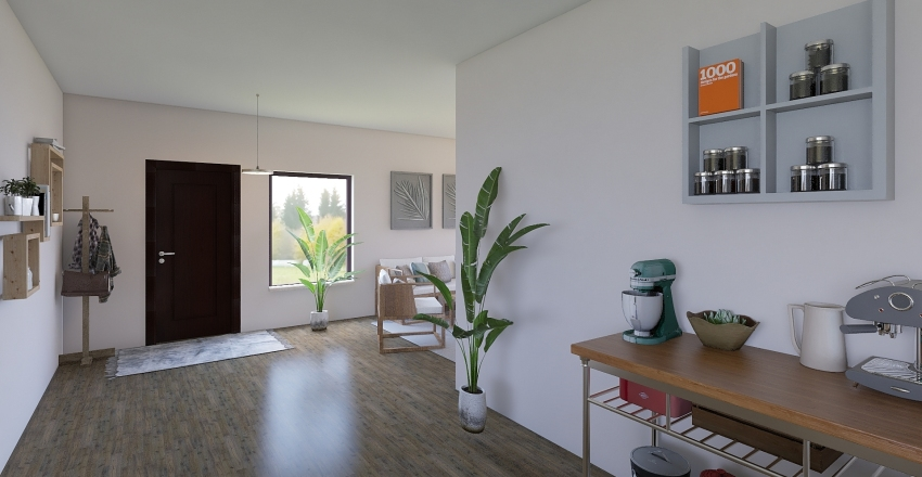 bungalow Interior Design Render