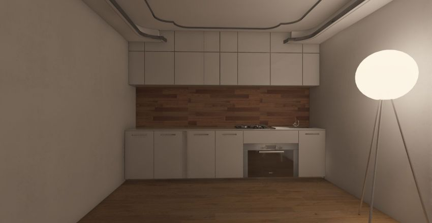 Triple Shipping Container Home Interior Design Render