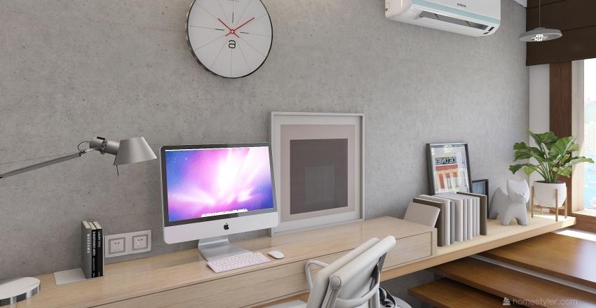 Small Branding Studio Interior Design Render