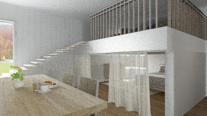 Apartment for Flight Attendants Interior Design Render